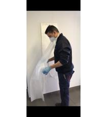 DELANTAL DESECHABLE PLÁSTICO 80x140 cm